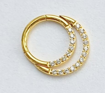 Double Crystal Ring  1,2/8mm