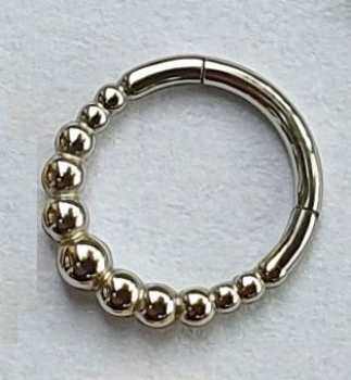 CLICKER 5-BALL RING  1,2/8mm